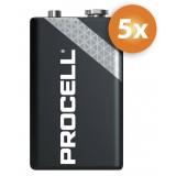 Duracell Procell 9V Alkaline batterijen - 5-pack